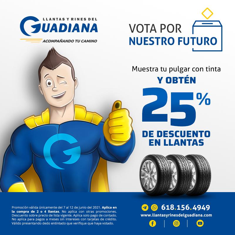 LLANTAS Y RINES DEL GUADIANA - 25% DE DESCUENTO EN LLANTAS